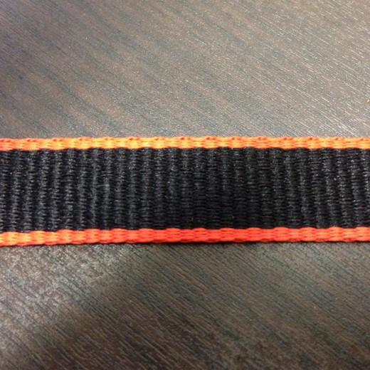 平織ネックストラップ縞模様
