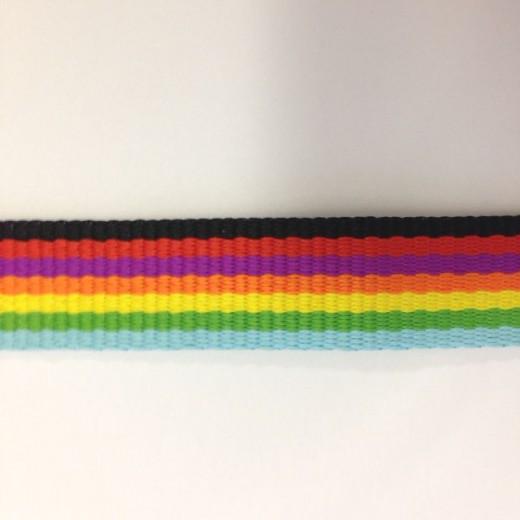 虹色のようなオリジナルネックストラップ製作