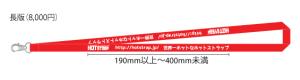 繰り返しの一つの単位のロゴの長さが19cm以上40cm未満の場合、版型代金は8,000円(税別)です。
